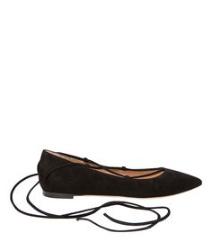 Gianvito Rossi Lace Up Suede Flat