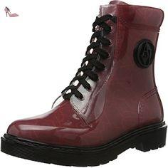 Armani Jeans  9251186A521, Bottines avec doublure intérieure femme - Rouge - Rot (BORDEAUX 00176), 40 - Chaussures emporio armani (*Partner-Link)
