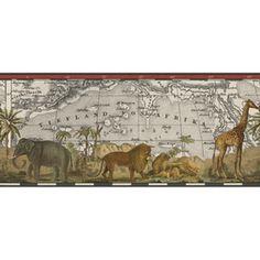 """IMPERIAL�9"""" Safari Prepasted Wallpaper Border"""