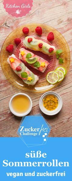 Sommerrollen mit Milchreis: Leckerer Kokosmilchreis mit frischen Beeren, dazu eine fruchtige Sauce und das Ganze wird ein toller Hingucker auf dem Frühstückstisch. Wir zeigen euch wie man diese süßen Sommerrollen zubereitet.