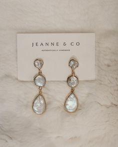 "Jeanne and Co on Instagram: ""ℙ𝕖𝕒𝕣𝕝𝕤, 𝕡𝕖𝕒𝕣𝕝𝕤, 𝕡𝕖𝕒𝕣𝕝𝕤. ⠀⠀⠀⠀⠀⠀⠀⠀⠀ We just can't get enough. These genuine fresh water pearl earrings are wrapped in 18k gold. ⠀⠀⠀⠀⠀⠀⠀⠀⠀…"" Water Pearls, Fresh Water, 18k Gold, Helmet, Pearl Earrings, Canning, Handmade, Jewelry, Instagram"