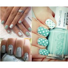 Tiffany Nails... bottom left are so.. not tiffany at all. But I love them all & i have done the dandelion ones! ♥