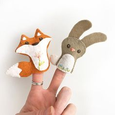 DIY Mini Felt Woodland Creatures plush Set 1 PDF sewing