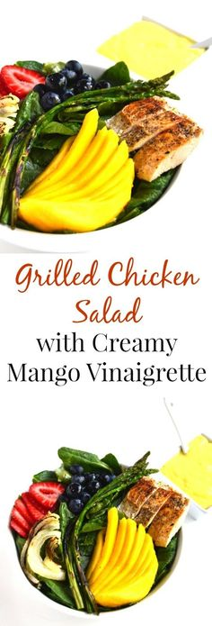 Mango salad, Grilled chicken and Hawaiian grilled chicken on Pinterest