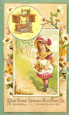 Sewing Trade Card by goddess of chocolate, via Flickr