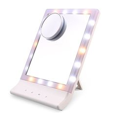 Mirrors Beauty & Health Systematic Led Touch Screen 180 Degree Rotating Makeup Mirror Table Lamp Desktop Makeup Mirrors Vanity Adjustable Mirror With Storage Rack In Many Styles