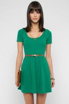 Back Again Dress in Green $30 at www.tobi.com