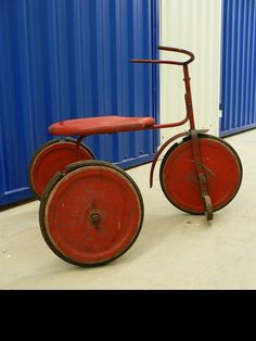 antikes Dreirad Kinder-Fahrrad mit Eisenrädern 30'er von EdeWerke