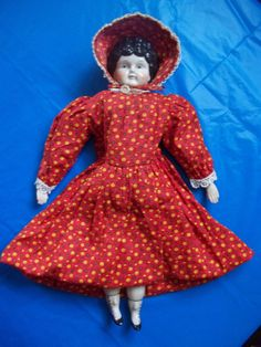 Vintage German China Head Number 5 Center Part Doll by mementocollectables on Etsy