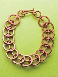 Copper Slinky Link Bracelet Tutorial