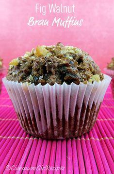 fig walnut bran muffins