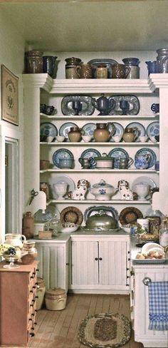 ✿ღ. This is a great design for the Butler's pantry. The sink could be in that pantry next to the dining room!