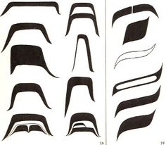 Northwest coast art shapes | 18Like ovoids, U forms can vary greatly in shape