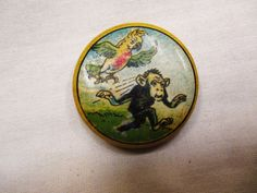 1920s Rare pictorial Monkey and Parrot spice sample tin La Falsinea Bologna #LaFalsinea