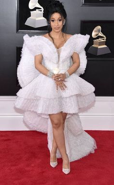 Cardi B from 2018 Grammys Red Carpet Fashion In Ashi Studio