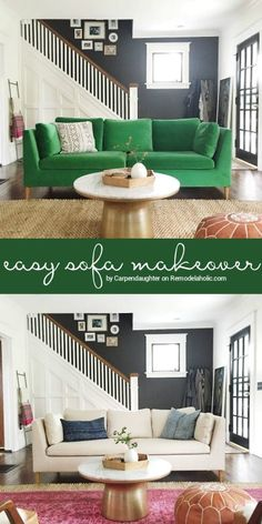 sofa slipcover that 39 s an easy way to update an inexpensive ikea sofa