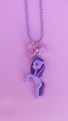 Twilight Sparkle polymer clay necklace, fimo