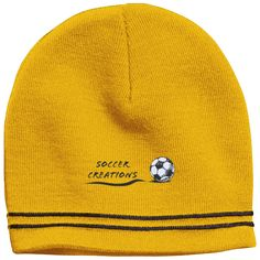 Do you love soccer? You're going to absolutely love our products!  Soccer Creations Logo - Colorblock Beanie - $19.99