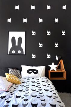 Pom White Superheroes Wall Decals - $24.95 - Available for international delivery from online kids store A Little Bit of Cheek