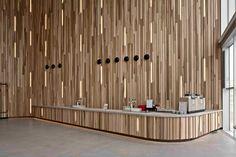 View full picture gallery of Kunstcluster Nieuwegein Wood Interiors, Office Interiors, Hall Hotel, Hotel Lobby, Grand Hall, Lobby Reception, Reception Desks, Reception Areas, Timber Walls