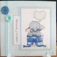 Baby's 1st Birthday Personalised Card. Baby by ItsUpToTheCraftGod, £4.50