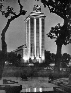 German Pavilion at the World's Fair in Paris before WWII began.