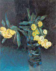 artist Adam Pyett, yellow flowering eucalyptus, 2015, oil on linen