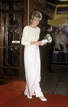 Princess Diana attends the Royal Variety Performance at the Dominion Theatre on December 7, 1992 which was the last public engagement before her separation from Prince Charles.