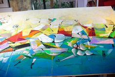 Contemporary Landscape, Triptych, Meditation, David, Abstract, Canvas, Painting, Image, Art