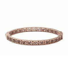 Bracelet FOSSIL BIJOUX Acier rose, Motif de découpe
