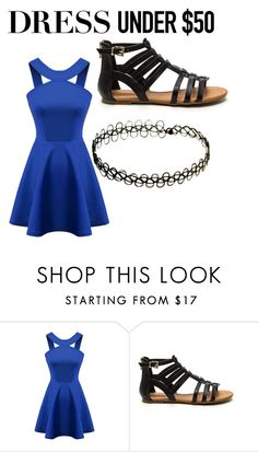 """Untitled #312"" by emilymarie4171 ❤ liked on Polyvore featuring Chicnova Fashion and Dressunder50"
