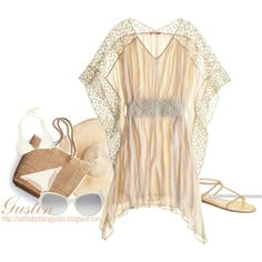 """lace beach"" by stacy-gustin on Polyvore"