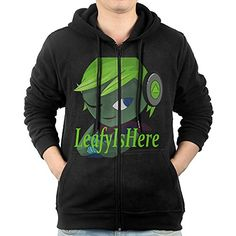 AASD Mens LeafyIsHere Logo FullZip Fleece Hoodie XXL *** You can get additional details at the image link.