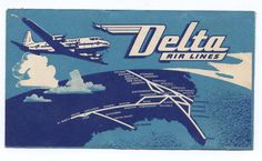 Delta Airlines 1948 Ticket Holder and 2 by peaceloveantiques, $18.00