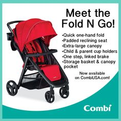 So excited to introduce the new Fold N Go stroller! Now available on the Combi USA website!