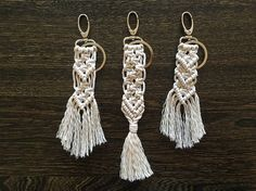 Hey, I found this really awesome Etsy listing at https://www.etsy.com/ca/listing/281492106/natural-cotton-macrame-keychains-modern