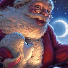 *Santa Claus and lamb*