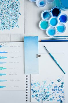 ways to explore shades and tints. pretty patterns, doodles, collections.