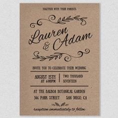 free printable wedding invitation template | free printable, Wedding invitations
