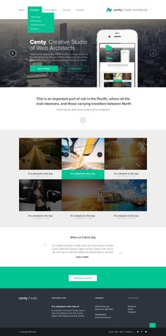 Centy is a modern flat design template made also in High Resolution for your business needs. Clean Web Design, Web Ui Design, Flat Design, Graphic Design, Business Web Design, Corporate Design, Website Design Inspiration, Ui Inspiration, Design Ideas