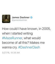James Dashner´s tweet - the maze runner