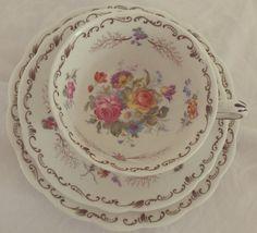 Stunning Vintage Floral Bone China Tea Set