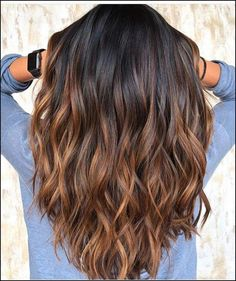 120 bold brunette balayage hair color highlights in 2019 page 30 - hair - Hair Styles Brown Hair With Highlights, Hair Color Highlights, Ombre Hair Color, Hair Color Balayage, Brown Hair Colors, Brunette Highlights, Hair Colour, Tiger Eye Hair Color, Brown Ombre Hair