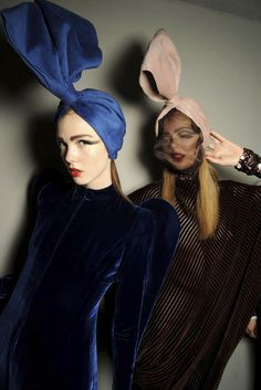 turbans - I can't think of a word to describe 'the look' in this picture - sublime headwear!