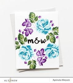 Simple Initials card