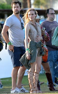 Music makes the people come together: Diane Kruger and her boyfriend, Joshua Jackson, were...