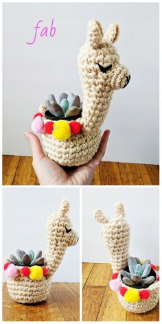 Mini llama Planter Crochet Pattern