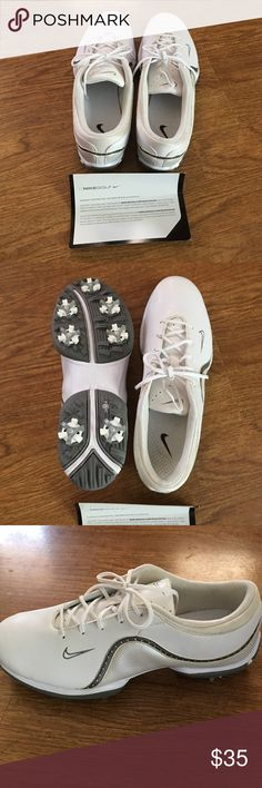 Nike woman's golf shoes Never worn. Size 8 1/2 Nike traction at contact golf shoes. Nike Shoes Athletic Shoes