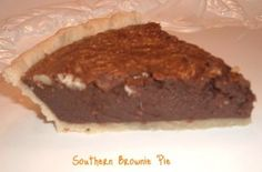 Southern Brownie Pie - Bunny's Warm Oven