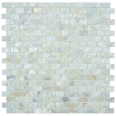 Conchella Subway White 12-1/2 in. x 12-1/4 in. Seashell Mosaic Wall Tile-GDXCSWW at The Home Depot